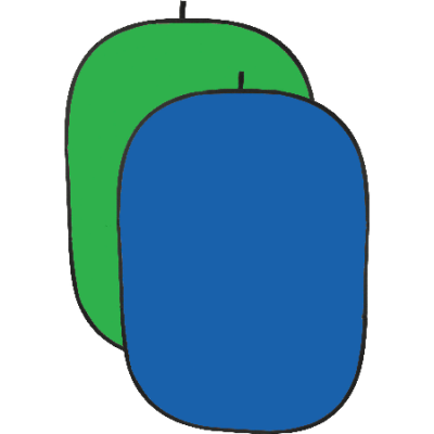 blue and green key (oval) 2m H 1,5m W